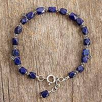 Featured review for Lapis lazuli flower bracelet, Blossoming Ecstasy