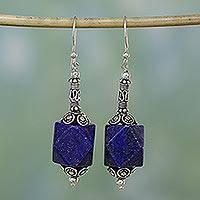 Lapis lazuli dangle earrings, Blue Goddess