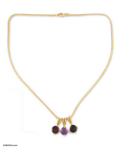 Amethyst and Garnet Vermeil Necklace