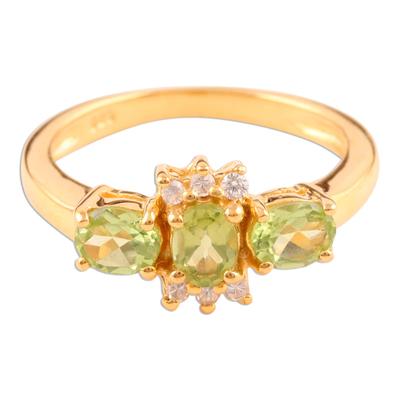 Unique Gold Vermeil Peridot Ring