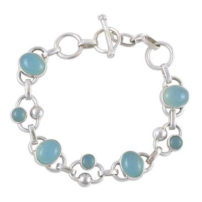 Chalcedony link bracelet
