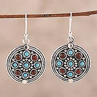 Featured review for Turquoise and carnelian dangle earrings, Bright Berries