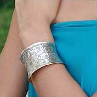 Sterling silver cuff bracelet, 'Autumn Bouquet'