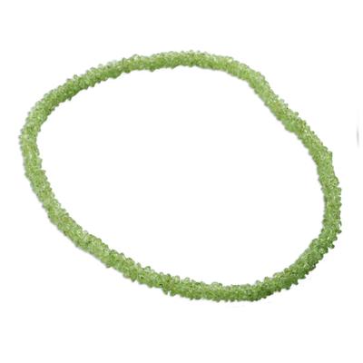 Peridot long necklace