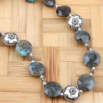 Labradorite strand necklace, 'Indian Stars' - Labradorite strand necklace