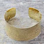 Gold vermeil cuff bracelet, 'Summer Skies'