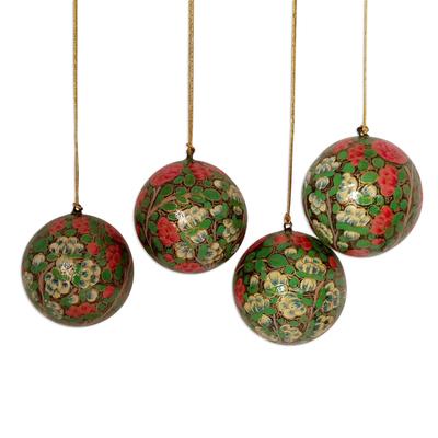 Ornaments, 'Holiday Exuberance' (set of 4) - Ornaments (Set of 4)