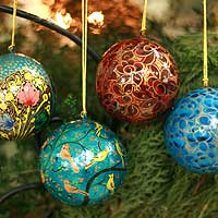 Ornaments, 'Cheerfulness' (set of 4)