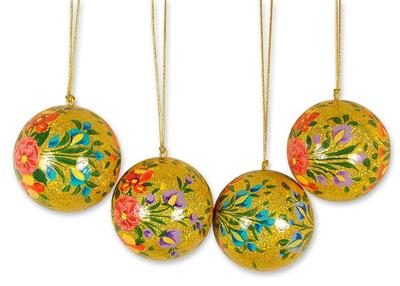 Ornaments, 'Sunlight Joy' (set of 4) - Ornaments (Set of 4)