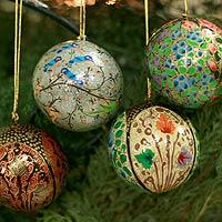 Ornaments, 'Joyful Melody' (set of 4)