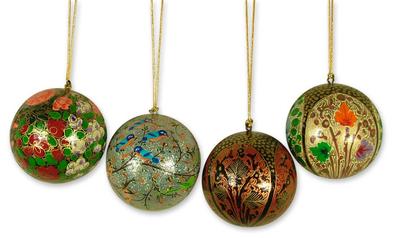 Ornaments, 'Joyful Melody' (set of 4) - Ornaments (Set of 4)