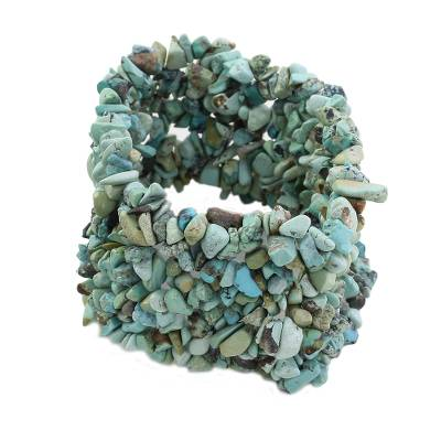 Natural Turquoise Stretch Bracelet India Beaded Jewelry
