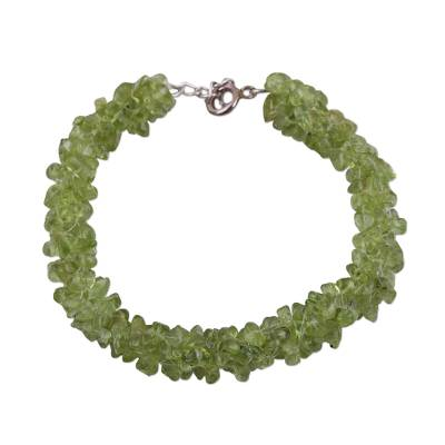 Handcrafted Peridot Bracelet from India