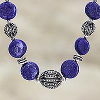 Lapis lazuli strand necklace, 'Blue Empress' - Lapis lazuli strand necklace