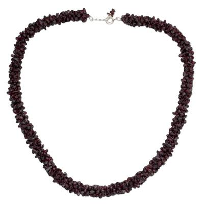 Indian Artisan Crafted Beaded Garnet Necklace