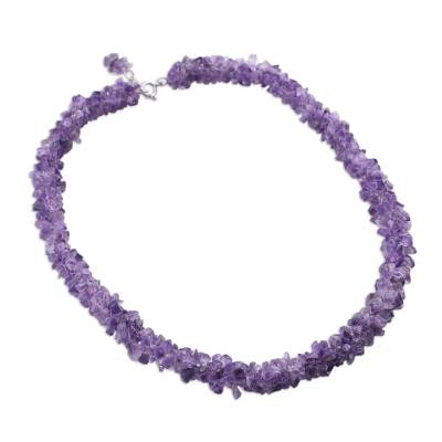 Handcrafted Beaded Amethyst Necklace