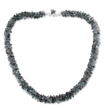Fair Trade Iolite Beaded Necklace