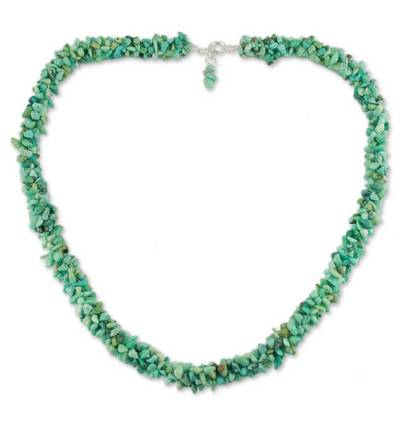 Unique Beaded Turquoise Necklace