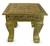 Brass accent table, 'Golden Splendor' - Fair Trade Wood Brass Accent Table Unique Traditional thumbail