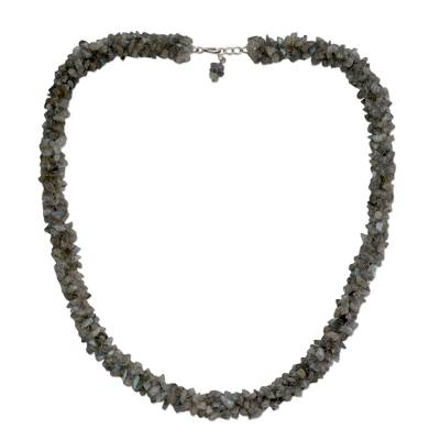 Fair Trade Artisan Jewelry Labradorite Necklace from India