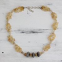 Citrine beaded necklace, 'Sunlight Celebration'