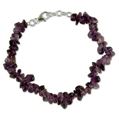 Artisan Crafted Beaded Amethyst Bracelet