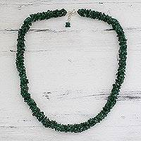 Aventurine beaded necklace, 'In Ivy' - Fair Trade Beaded Aventurine Necklace
