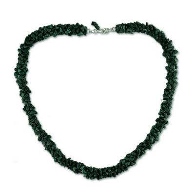 Malachite beaded necklace