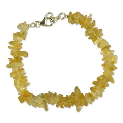 Citrine beaded bracelet