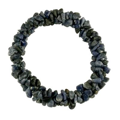 Sodalite Stretch Beaded Bracelet Handmade India