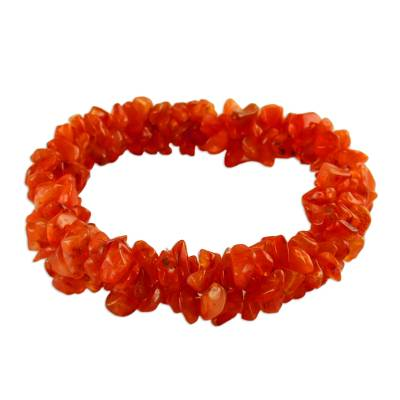Hand Crafted Bracelet with Natural Carnelian