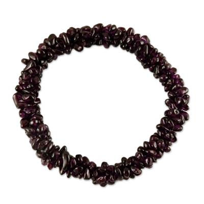 Garnet Bracelet Indian Hand Crafted Beaded Jewelry