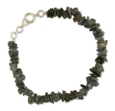 Handmade Iolite Beaded Bracelet