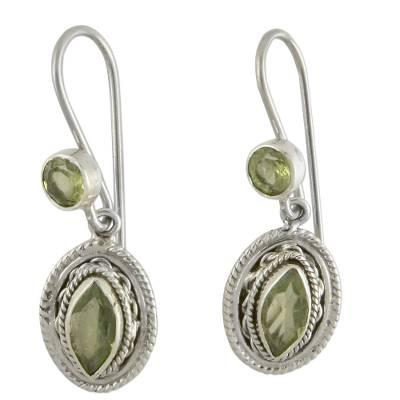 Hand Made Jewelry Sterling Silver and Peridot Earrings