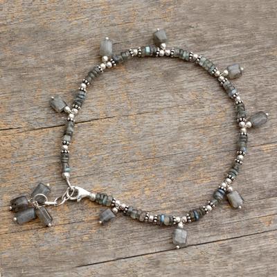 Labradorite anklet, 'Intuitive' - Labradorite anklet