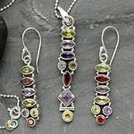 Sterling Silver Multigem Jewelry Set, 'Totem Lights'
