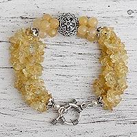 Citrine torsade bracelet, 'Extravagant' - Citrine torsade bracelet