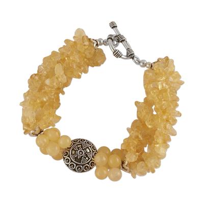 Citrine torsade bracelet
