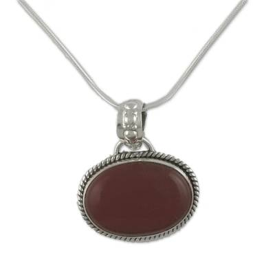 Fair Trade Jewelry Sterling Silver and Onyx Necklace