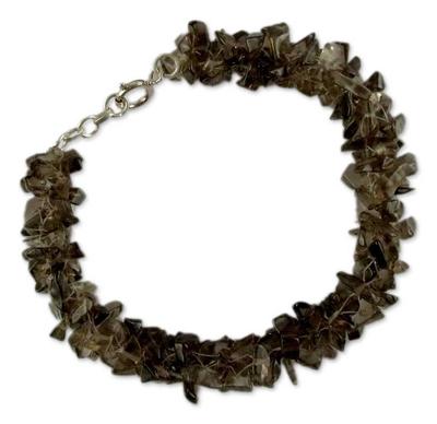 Smoky Quartz Bracelet from India Beaded Jewelry