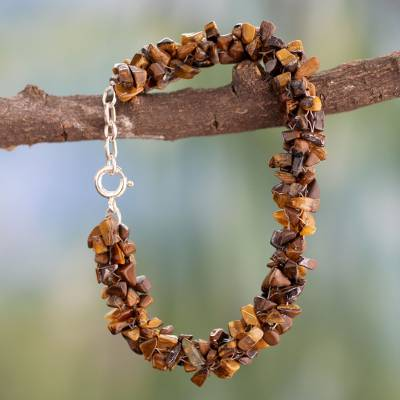 Novica Tigers eye beaded bracelet, Golden Gaze - Tigers Eye Beaded Bracelet from Fair Trade Artisan Jewelry