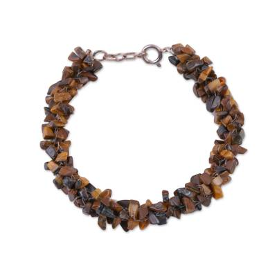 Tigers Eye Beaded Bracelet from Fair Trade Artisan Jewelry
