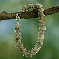 Labradorite beaded bracelet, 'Mysterious Song' - Fair Trade India Beaded Jewelry Labradorite Bracelet