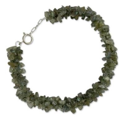 Fair Trade India Beaded Jewelry Labradorite Bracelet