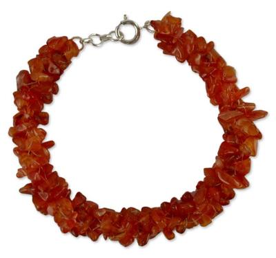 Hand Made Beaded Jewelry Carnelian Bracelet