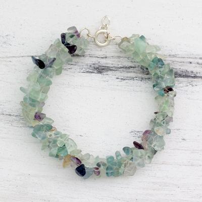 Fluorite beaded bracelet, 'Subtle Allure' - Fluorite Bracelet Artisan Crafted jewellery from India