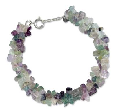 Fluorite Bracelet Artisan Crafted Jewelry from India