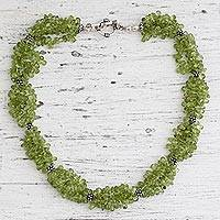 Peridot necklace, 'Song of Summer' - Peridot necklace