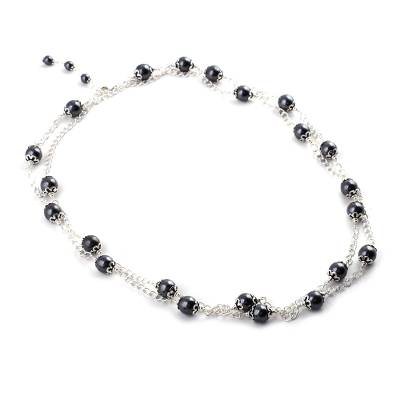 Sterling Silver and Hematite Necklace Artisan Jewelry