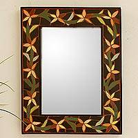 Mirror, 'Daffodil Garland' - Mirror